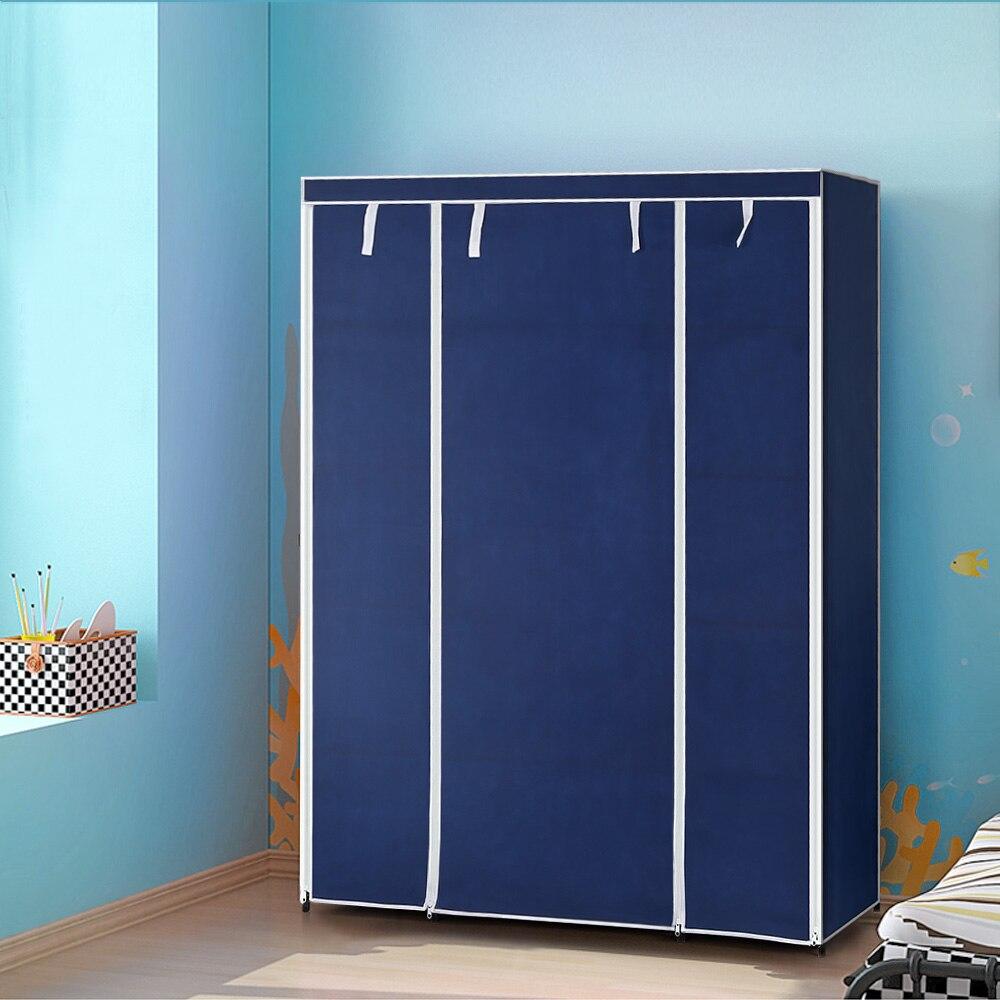 ikayaa us uk fr stock wardrobe storage wardrobe clothing hanger bedroom furniture roll up wardrobe cabinet