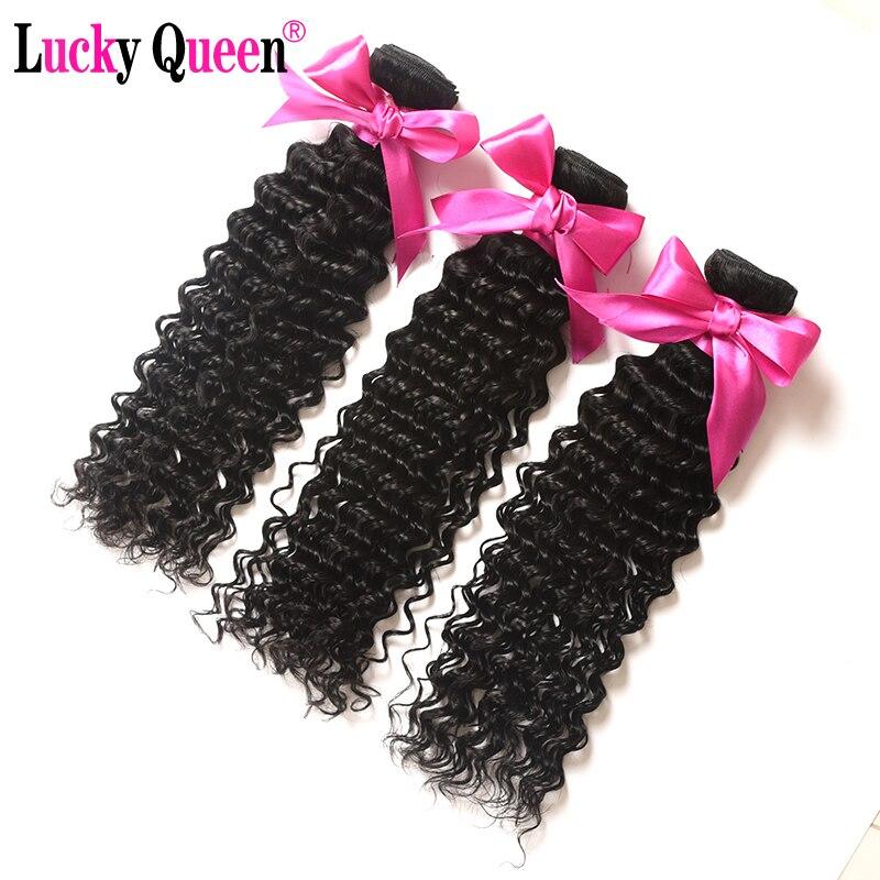 Gelombang Dalam Peru Rambut 100% Rambut Manusia Ekstensi 3 Bundel  Kesepakatan Non Remy Rambut Menenun Gratis Pengiriman Beruntung Queen rambut  di 3 4 Bundel ... 0fa19de461