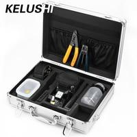 Kelushi 13 шт. Волокна-оптические ftth Tool Kit с HS-30 Волокна кабель Тесак, Оптический Волокна инструмент для зачистки коробка для хранения алкоголя Бу...