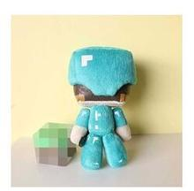 Minecraft Стив Плюшевые Игрушки 1 шт. 18 см Со Стивом Алмазный Меч Мягкая Кукла Игрушки для Детей Детям Подарки