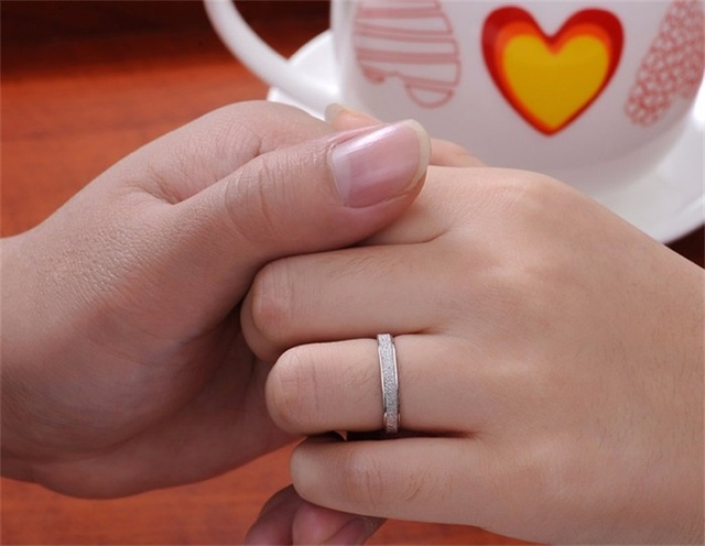 YHAMNI Frosted Couple Rings...