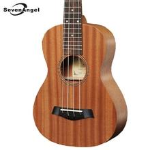 SevenAngel Brand 21″ Soprano Ukulele Mini Hawaiian 4 strings Guitar Fishbone pattern Mahogany Electric Ukulele with Pickup EQ