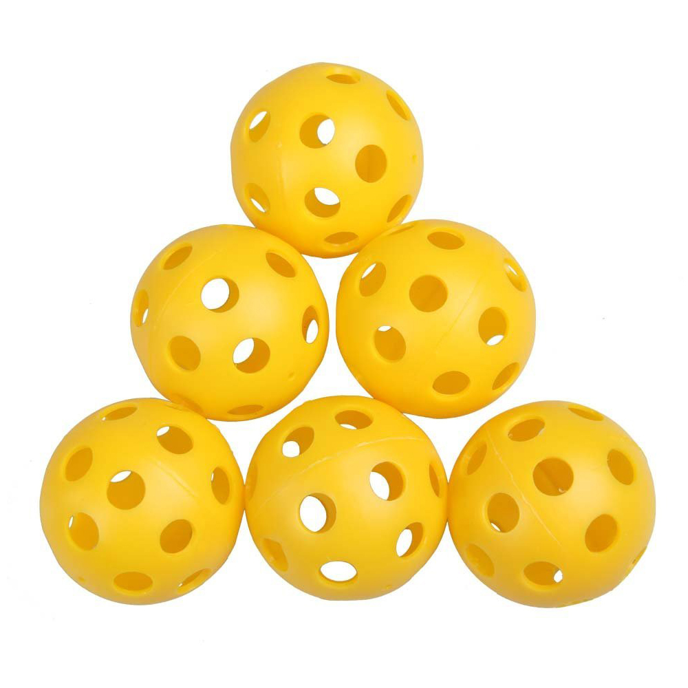 SZ-LGFM-12 X Plastic Whiffle Airflow Hollow Golf Practice Training Sports Balls