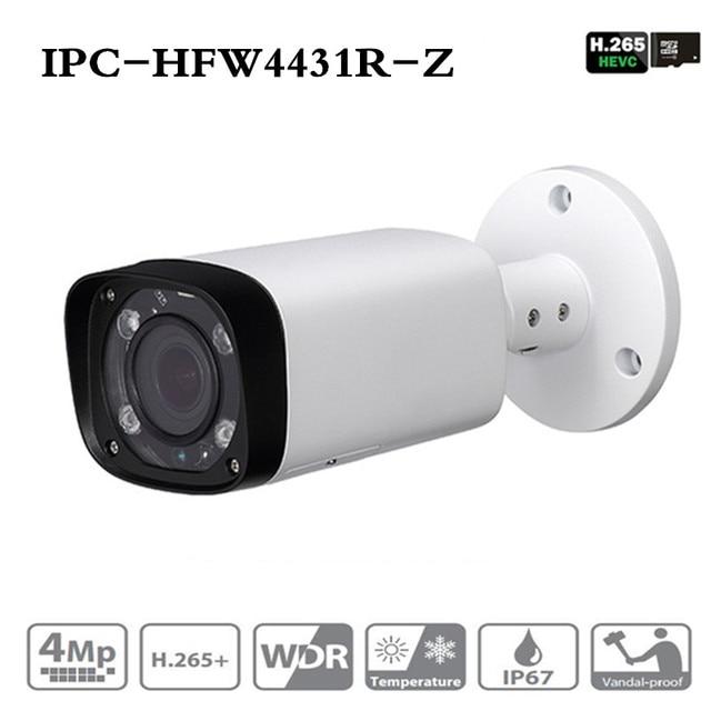 Dahua IPC HFW4431R Z Cámara nocturna de 4MP 80m IR con 2,7 ~ 12mm, objetivo VF Zoom motorizado enfoque automático Bullet cámara IP CCTV Security POE