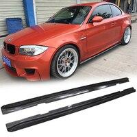 UHK для BMW 1 серии 1 м E82 углеродного волокна ASPEC Стиль сбоку юбки протектор комплект Диффузор тела снаружи Запчасти гоночный автомобиль