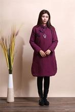 2015 Новых Зимнее Пальто Женщин Пуховики Большой Размер Толстый Длинный Хлопок-Проложенный Одежды 3 Цвета Пальто Парки Повседневная куртка Ватная
