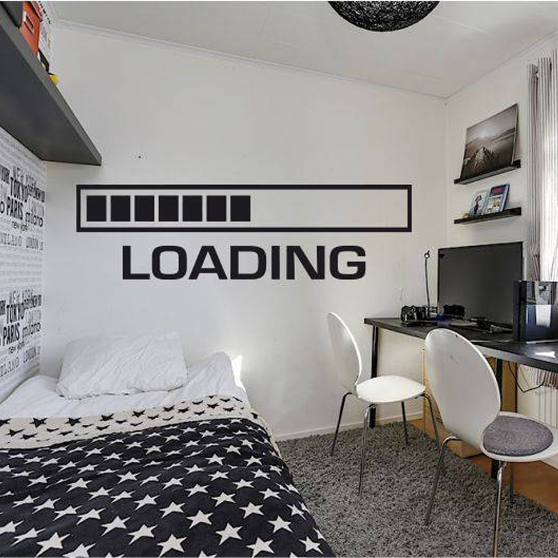 Gamer Wall Decal Xbox Loading Controller video game wall decals gamer decal Customized For Kids Bedroom Vinyl  A1-013