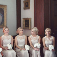 2016 Mint Ivory Elegant Long Bridesmaid Dresses Sleeveless Wedding Party Dress Sexy Backless  robe demoiselle d'honneur F11