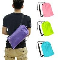 Fast Inflatable Lazy Bag Sleeping Air Bag Camping Portable Air Sofa Beach Bed Air Hammock Nylon