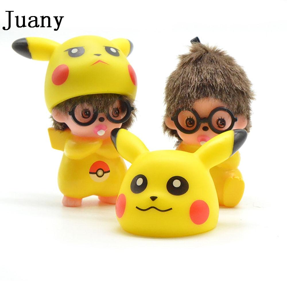 Uncategorized Monchichi Cartoon aliexpress com buy juany 3d pokemon monchichi keychian pikachu cut cartoon keychain keyring from reliable keyr