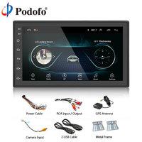 Podofo Android Car Radio GPS Bluetooth MP5 Multimedia player 2 Din 7'' FM WIFI Auto Audio Universal Backup Monitor Autoradio