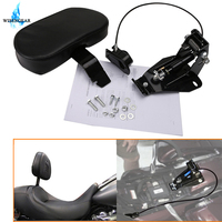 Detachable Adjustable Driver Rider Backrest w/ Mounting Kits For Harley Touring Road King Street Glide Ultra CVO FLHR FLHX 09 18