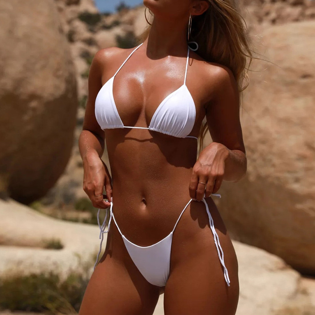 HTB1a9qzadfvK1RjSspfq6zzXFXaD Women Sexy Bikinis Bandeau Bandage Bikini Set Push-Up Brazilian Swimwear Beachwear Swimsuit 2019 Mujer Solid Maillot De Bain#15