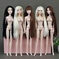 """Original 12 """"Nu nua XINYI Brinquedo boneca Rainha Lisa/14 Flexível Conjunta/longo Stright Cabelo Franja Peito Grande Para Boneca Barbie presente"""