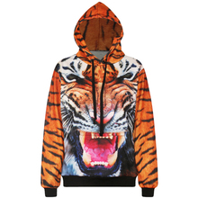 Harajuku 3D Print Animals Tiger Sweatshirts Fashion Long sleeve with hat Men Women Soft Hoodies Cartoon Hoody Hooded Pullover