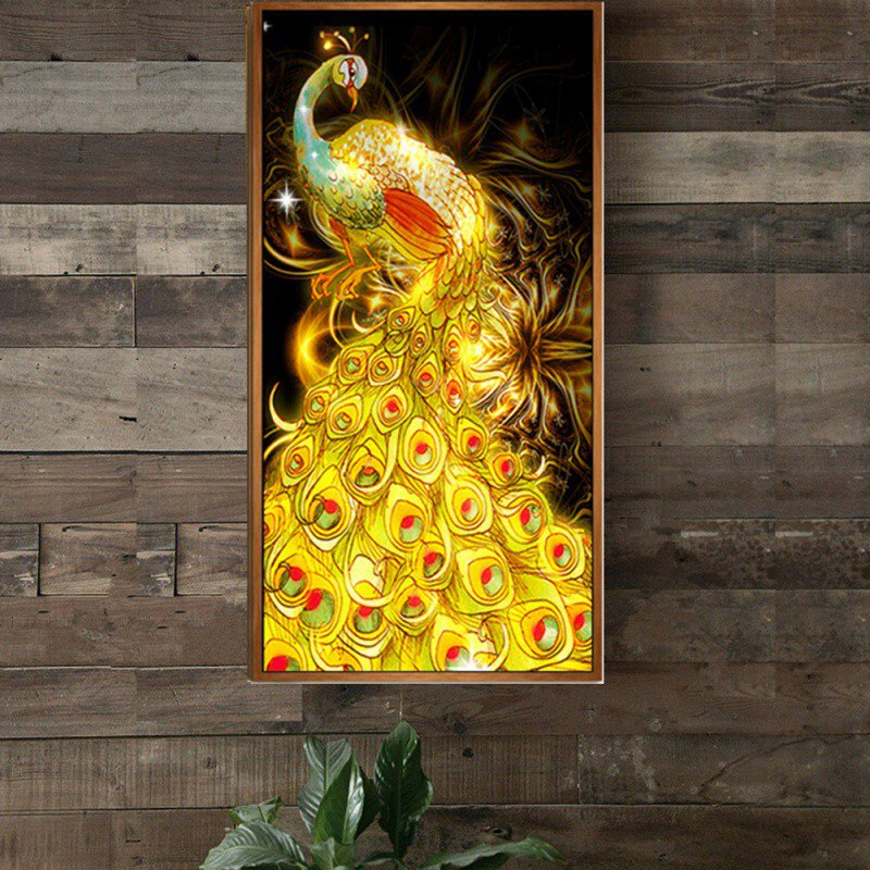 Peacock Diamond Painting Non-full Diamond Cross Landscape Grease Fabric Embroidery Home Decoration Painting