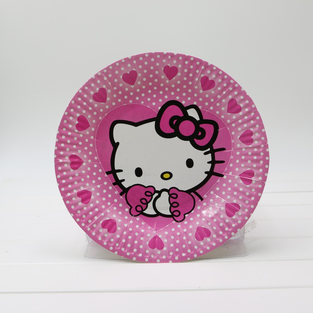 Hello kitty Birthday Party Decoration Paper CupPaper PlatePaper