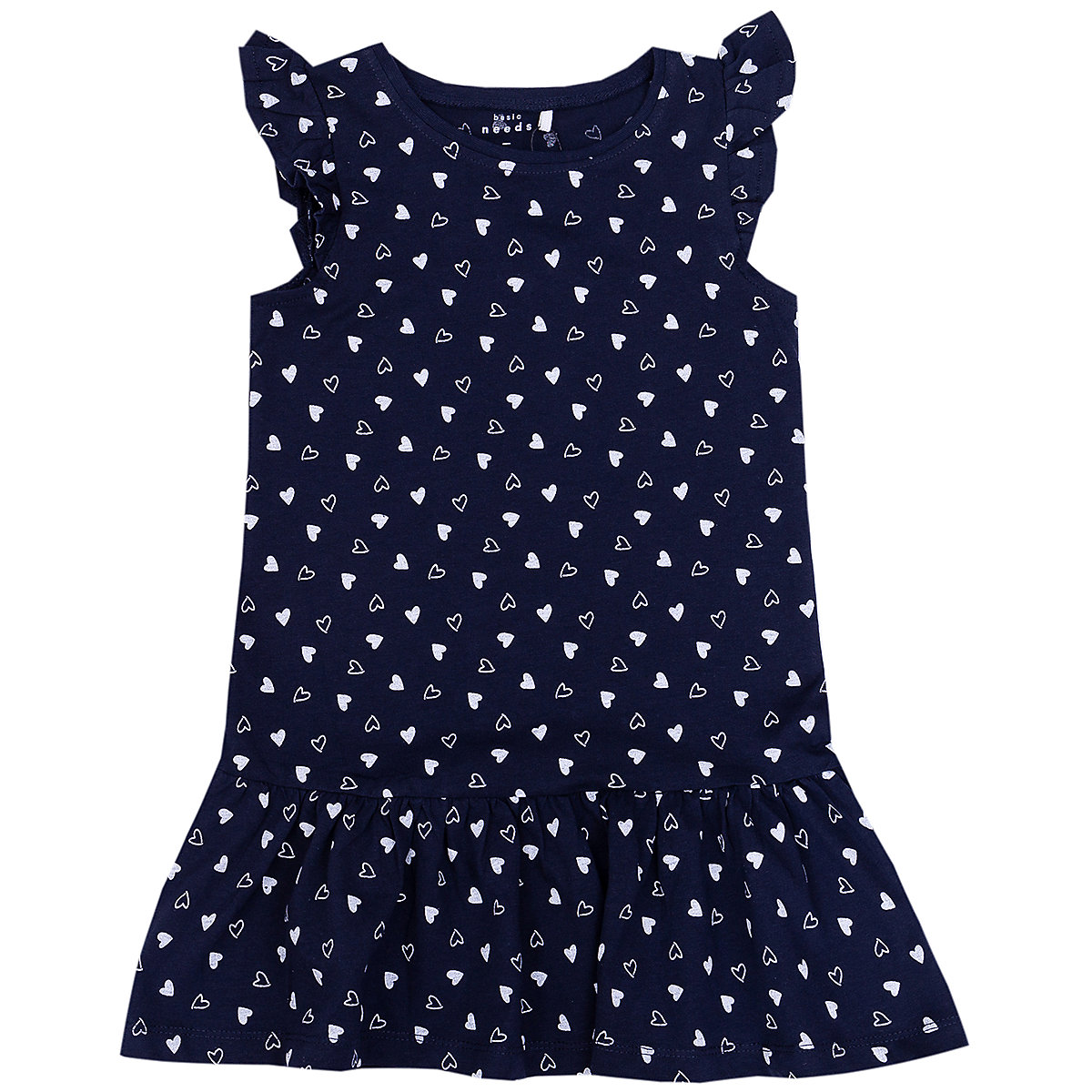 NAME IT Dresses 9383944 Dress girl children checkered pattern collar fitted silhouette sequins Cotton Casual Blue Short Sleeve