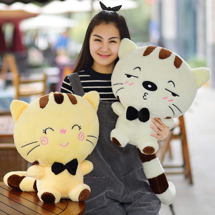 40-100cm 2016 new Expression big face Cat pillow plush toy child doll birthday gift Christmas schoolgirl kids toys stuffed cute labrador big plush toy lying dog doll search and rescue stuffed toys children birthday gift pillow