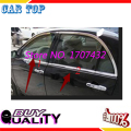 Free Shipping! Stainless Steel Chrome Down Window Cover Trim/Window Decoration For BYD F3 4PCS