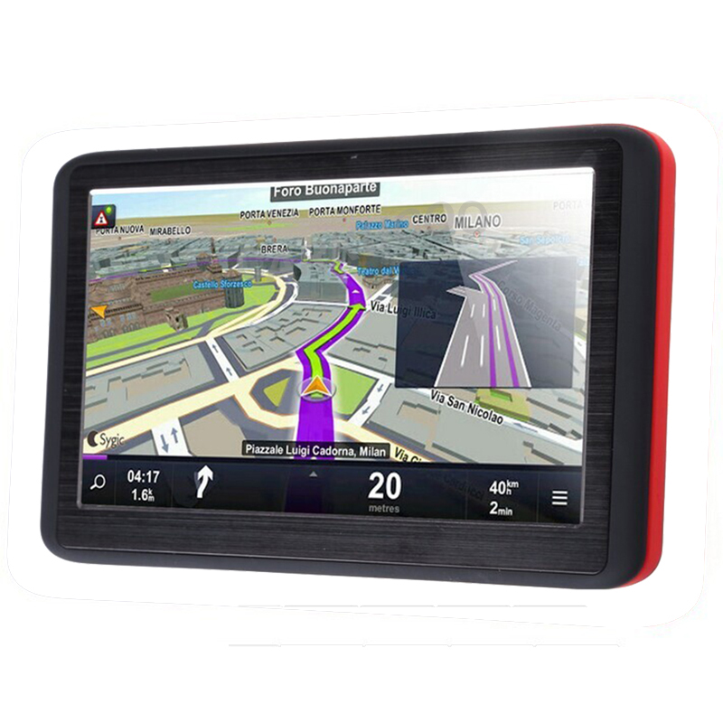 Car GPS Navigation 5 Inch HD Truck Vehicle GPS Navigator Sat Nav FM 128MB Europe Map Russia France Belarus Australia UA NZ/US+CA