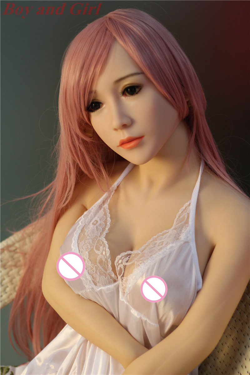Nightgown woman <font><b>140cm</b></font> <font><b>Sex</b></font> <font><b>Doll</b></font> Normal Breast Real <font><b>Silicone</b></font> Lifelike Pussy Metal Skeleton Tits Vagina Anal Oral <font><b>Sex</b></font> Toys image