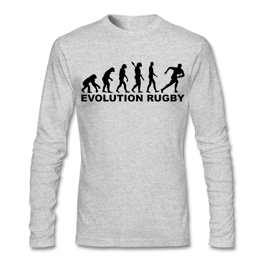 Design t shirt rugby - Designed Evolution Rugby Shirt Men White Long Slee