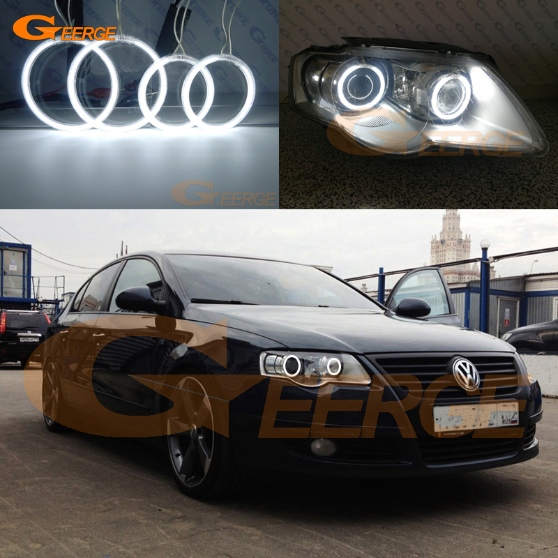 For Volkswagen VW Passat B6 Magotan 2006-2010 Xenon Headlight Excellent Ultra bright illumination CCFL Angel Eyes kit Halo Ring car styling 13pcs excellent canbus led bulb interior dome map light kit package for volkswagen vw passat b6 2006 2010