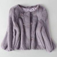 New mink fur coat JD62443
