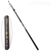 Portable Carbon 3.6/4.5/5.4/6.3M Black Telescopic Fishing Rod Spinning Hand Fishing Tackle Sea Rod