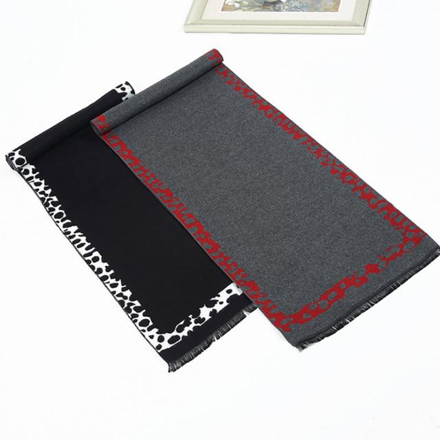 Fasion primavera otoño bufanda de marca de lujo de negocios hombres de la moda de alta calidad de espesamiento de la bufanda caliente bufandas de estilo europeo