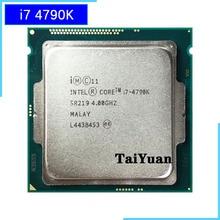 Intel Core i7 4790K i7 4790K dört çekirdekli sekiz iplik CPU işlemci 88W 8M LGA 1150