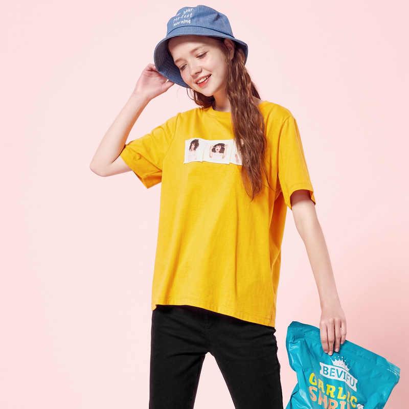 SEMIR 2019 модная футболка Harajuku женская футболка с буквенным принтом в стиле хип-хоп хлопковая Футболка с круглым вырезом и коротким рукавом в Корейском стиле