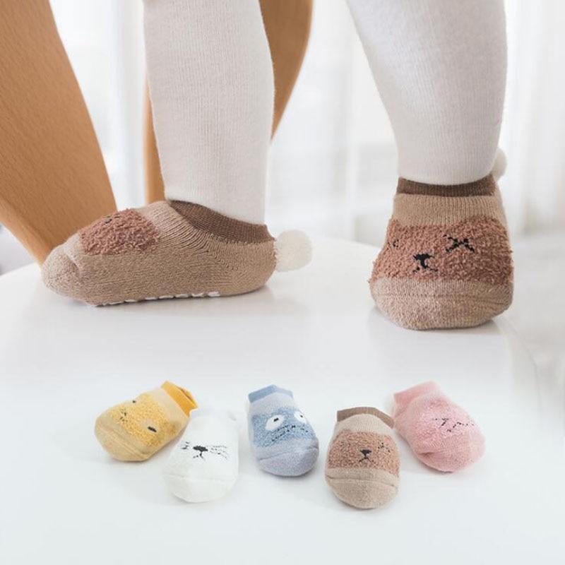 New Baby Floor Toddler Socks Indoor Non-slip Cute Heel Ball Baby Foot Sock