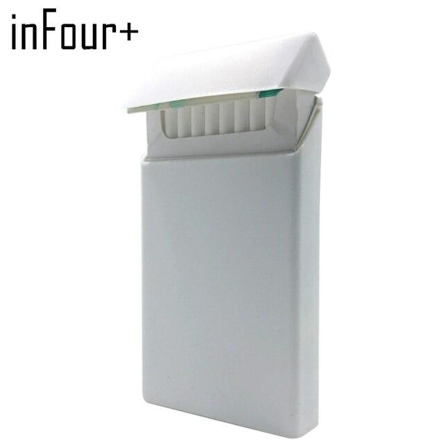 Pure White 10.5*5.8*1.4CM Silicone Lady Slims Cigarette Case Smoking Accessories 20 Cigarettes Box Cigarette Holder Tobacco Box