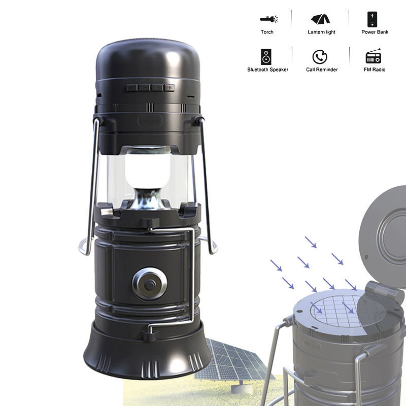 Portable LED Solar Charger Tent Light Camping Hiking Fishing Lantern Lamp Outdoor Tools Emergency Lanterns