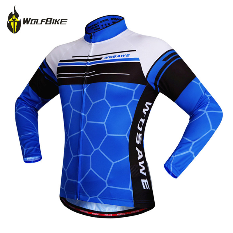 WOSAWE Cycling jersey Blue ciclismo hombre summer Long sleeve pro ciclismo maillot mtb bicicleta cycling clothing tier coolmax sportful mtb ciclismo pro team cycling ciclismo ciclismo sock 885