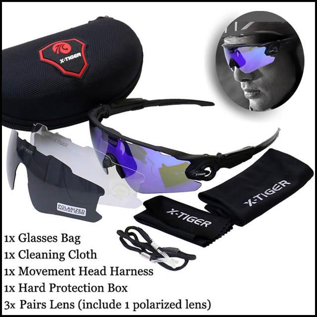 placeholder X-TIGER Polarizada Óculos de Ciclismo UV400 Ciclismo Esporte  Óculos de Sol Óculos de Mountain 58c809817c