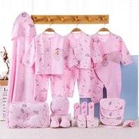 19pcs newborn clothes set 100%cotton cortoon elk baby boys girl gift box set infant's outfits dwq Without Box
