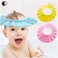 Ребенок детей малыша мягкий шампунь ванна шапочка для душа шляпа EVA пены козырек регулируемая для душа для новорожденные малыши HK1130