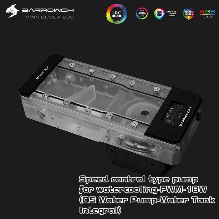 Barrowch FBD5BX, Display Digital PWM 18W Bomba Com Combinações de Reservatório, Caixa de Peixe D5 Series, integrado Bomba + Reservatório,