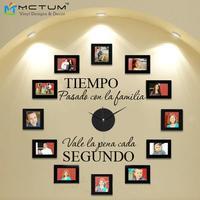 DIY Modern Design Wall Clock Spanish With Clock And Hands Tiempo Con La Familia Creatively Acrylic