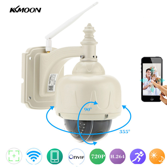 KKmoon 720P Wireless WiFi IP Camera Outdoor PTZ 2.8-12mm Auto-focus Waterproof H.264 HD CCTV Security Camera Wifi Night Vision