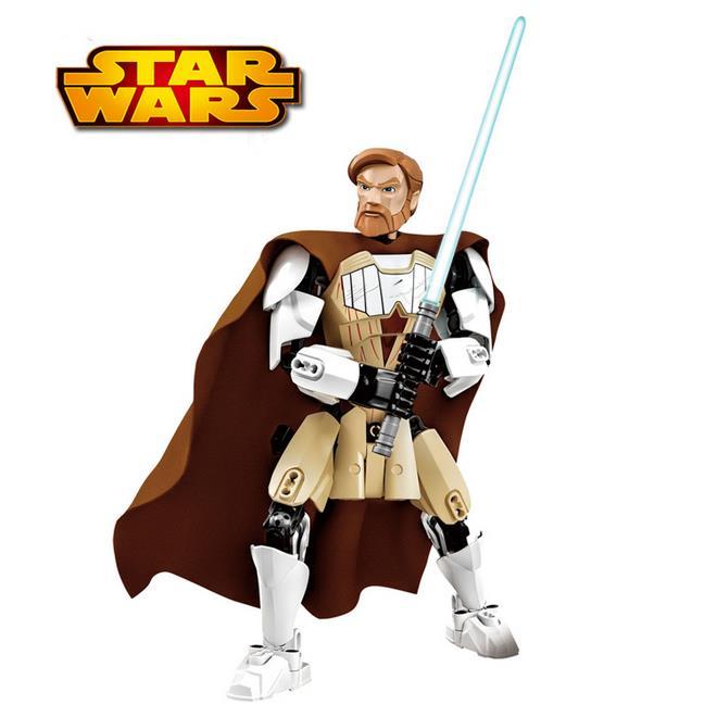 2016 KSZ Star Wars Obi-Wan Kenobi diy figures with Lightsaber Figure toys building blocks compatible