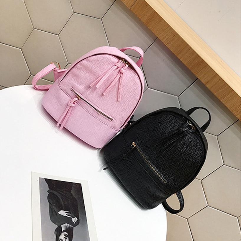 maison Backpacks high quality leather girl Preppy Style Letter Backpack Mini Travel Shoulder Zipper backpack women 2018ma10 ...