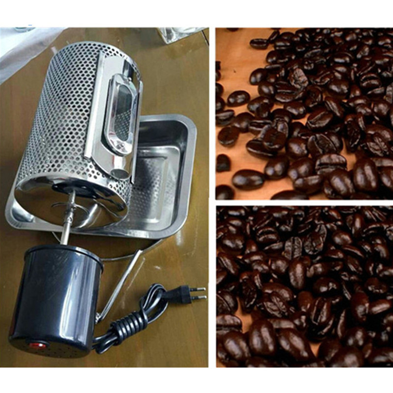 Mini electric stainless steel peanut almond nut coffee roaster used in gas stove or electric stove 220v 110v  drought stress in peanut