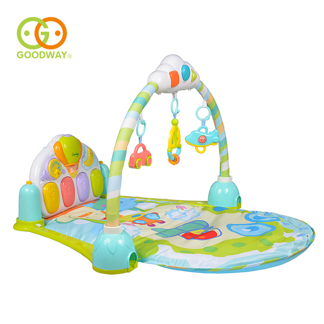 GOODWAY Baby 3 in 1 Play Rug Develop Crawling Children's Music Mat with Keyboard Infant Fitness Carpet Educational Rack Toys Pad