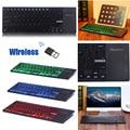 Marca Delgado de 2.4 GHz Wireless Mini Touchpad Keyboard para TV Box HTPC Windows Android LCD Retroiluminado teclado para Windows iOS Android