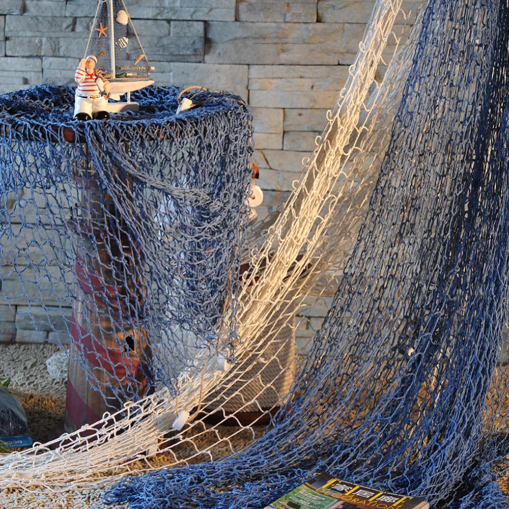 Garden wall ornaments - Cheap High Quality Fashion Nautical Fishing Net Seaside Wall Beach Party Sea Shells Home Garden Decor