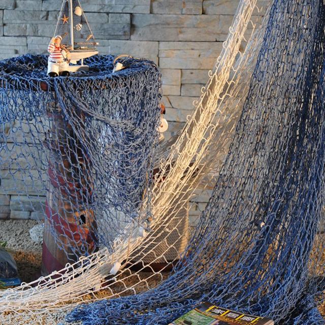 Nautical Fishing Net Seaside Wall Beach Party Sea Shells Home Garden  Decoration